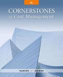 Cornerstones of Cost Management PDF