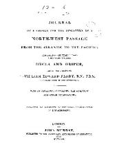 Journal of a voyage for the discovery of a north-west passage from the Atlantic to the Pacific: performed in the years, 1819-20, in His Majesty's ships Hecla and Griper, under the orders of William Edward Parry ; with an appendix containing the scientific and other observations