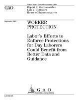 Worker protection Labor s efforts to enforce protections for day laborers could benefit from better data and guidance  PDF