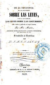 De la influencia de las costumbres sobre las leyes y de la que ejercen las leyes sobre las costumbres