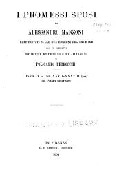 I promessi sposi di Alessandro Manzoni: Parte iv