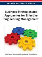 Business Strategies and Approaches for Effective Engineering Management PDF
