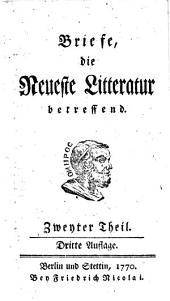 Briefe die Neueste Litteratur betreffen: IIter Theil, Band 2
