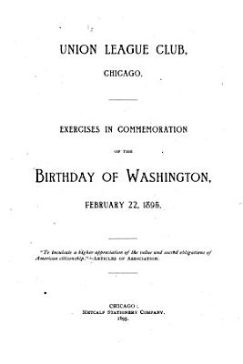 Exercises in Commemoration of the Birthday of Washington PDF
