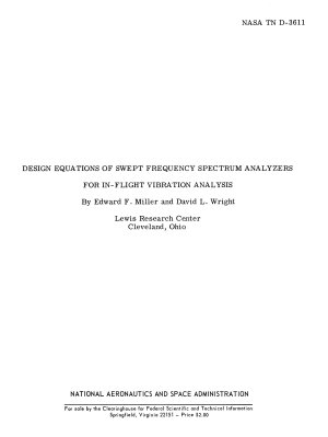 Design Equations of Swept Frequency Spectrum Analyzers for In flight Vibration Analysis