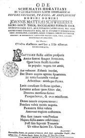 Ode schematis Horatiani in venerationem lucis onomasticae