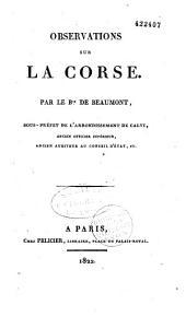 Observations sur la Còrse