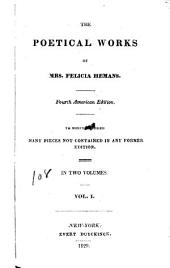 The Poetical Work of Mrs. Felicia Hemans: The siege of Valencia