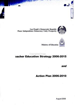 Teacher Education Strategy 2006 2015 And Action Plan 2006 2010