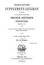 Englisch-deutsches Supplement-Lexikon