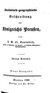 Statistisch-geographische Beschreibung des Königreichs Preußen: Band 2