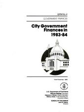 City Government Finances in ...: Volume 3