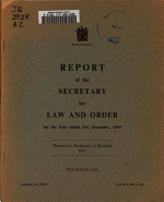 Report of the Secretary for Law and Order PDF