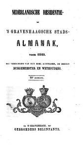 Nederlandsche residentie- en 's Gravenhaagsche stads-almanak voor ....: Volume 4