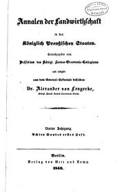 Annalen der Landwirtschaft in den königlich Preussischen Staaten: Band 8