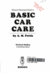 Monarch Illustrated Guide to Basic Car Care PDF