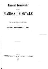 Mémorial administratif de la Flandre orientale: Volume 182