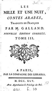 Les milles et une nuit, tr. par m. Galland: Volume3