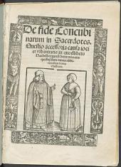 De fide Concubinarum in Sacerdotes: Quaestio accessoria causa ioci et urbanitatis