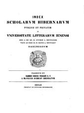 Index scholarum publice et privatim in Universitate Litterarum Ienensi ... habendarum: 1874/75