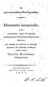 De aquis martialibus Moedingensibus dissertatio inauguralis