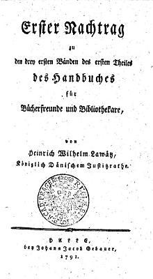 Erster Nachtrag zu den drey ersten B  nden des ersten Theiles des Handbuches f  r B  cherfreunde und Bibliothekare PDF
