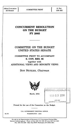 Concurrent Resolution on the Budget     PDF