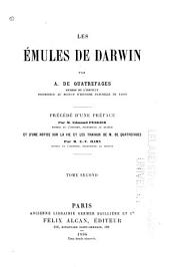 Les émules de Darwin: Volume2