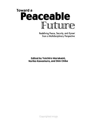 Toward a Peaceable Future PDF