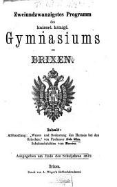 Programm des KK Gymnasiums zu Brixen: Band 22