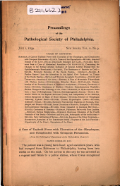 Proceedings of the Pathological Society of Philadelphia: Volume 2, Issue 9