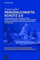 Pers  nlichkeitsschutz 2 0 PDF