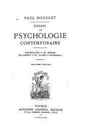 Essais de psychologie contemporaine