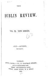The Dublin Review: Volume 11; Volume 63