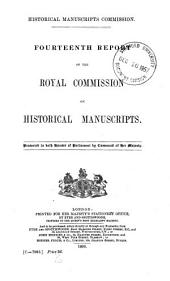 Report of the Royal Commission on Historical Manuscripts: Volume 14