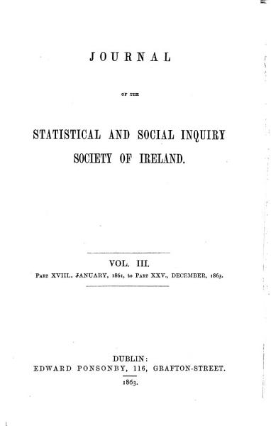 Journal of the Statistical and Social Inquiry Society of Ireland PDF