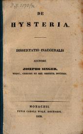 De hysteria: Dissertatio Inauguralis