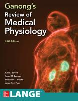 Ganong s Review of Medical Physiology  Twenty sixth Edition PDF