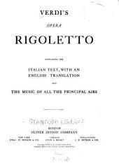 Rigoletto: Opera in Three Acts