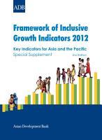 Framework of Inclusive Growth Indicators 2012 PDF