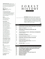 Forest History Today PDF