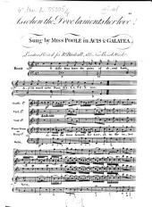 As when the Dove laments her love,/Sung by MISS POOLE in ACIS & GALATEA