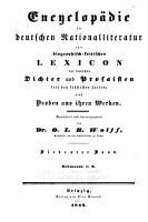 Encyclop  die der deutschen National Literatur PDF