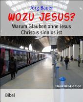 Wozu Jesus?: Warum Glauben ohne Jesus Christus sinnlos ist