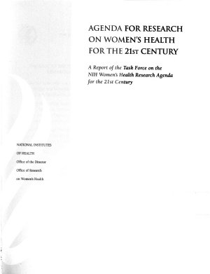 Agenda for Research on Women s Health for the 21st Century  without special title PDF