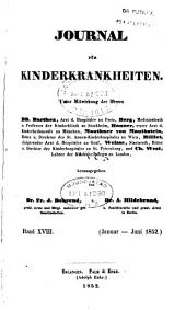 Journal für Kinderkrankheiten: Bände 18-19