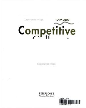 Peterson s Competitive Colleges 1999 2000 PDF