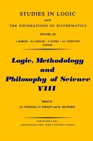 Logic  Methodology and Philosophy of Science VIII PDF