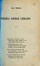 Alla memoria di Teresa George Cibrario [G. Regaldi]