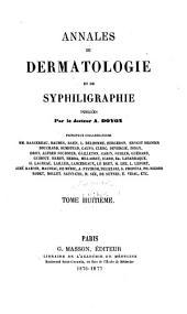 Annales de dermatologie et de syphiligraphie: Volume8